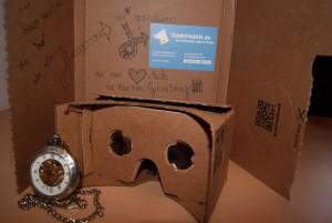 Google Cardboard fertig gebaut. (Foto: Pinker)