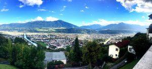 Panorama-Ausblick über die Stadt von der Station Hungerburg aus (Foto: Winderl)